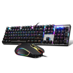 Mechanical Gaming Keyboard and Mouse Blue Switch 104 Key RGB - Surest Deals Store