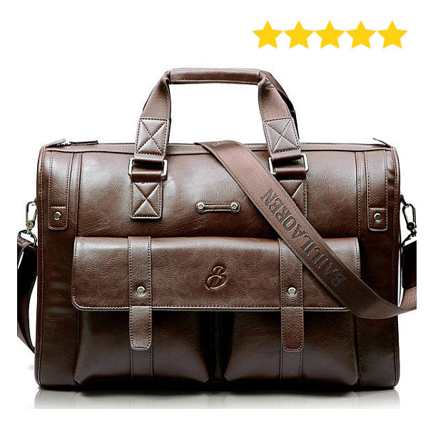 Large Business Vintage Leather Laptop Bag Briefcase Water Resistance for Men & Women - Surest Deals Store