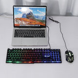 Ergonomic Optical Gaming Keyboard and Mouse Set PC Gamer Laptop, 104 Keys - Surest Deals Store