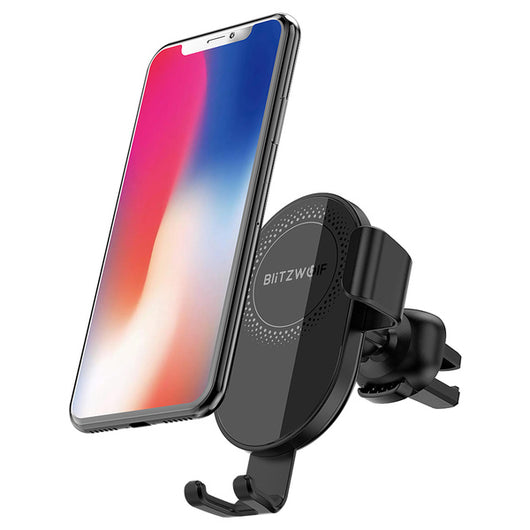 Qi Wireless Charger Car Phone Holder For iPhone, Samsung S9 S10, Xiaomi, Huawei - Surest Deals Store