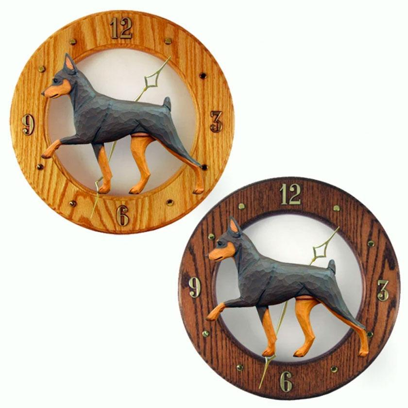 Dog Breed 2D Wooden Wall Clocks