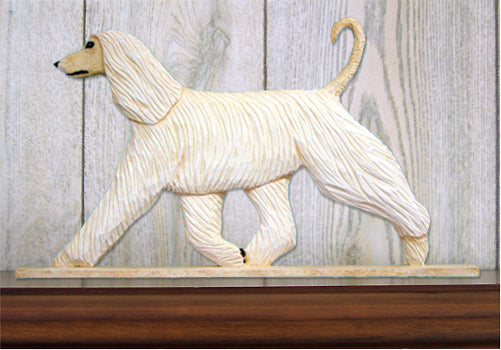 Afghan Hound Dog in Gait Topper Fawn