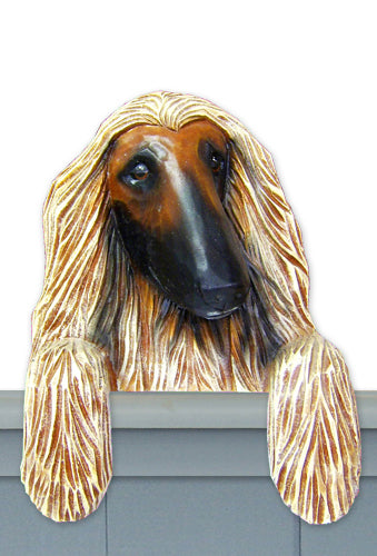 Afghan Hound Dog Door Topper Fawn
