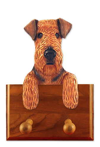 Airedale Dog Leash Holder