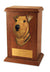 Airedale Dog Light Oak Memorial Cremation Urn
