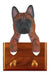 Akita Dog Leash Holder Brindle