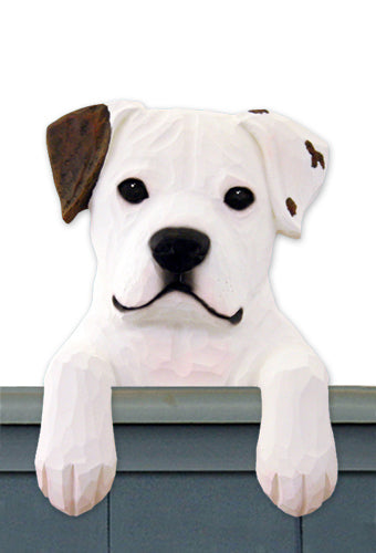 American Bulldog Dog Door Topper Black and White