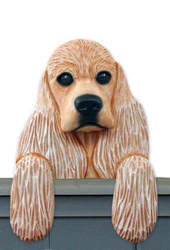 American Cocker Spaniel Dog Door Topper Black