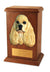 American cocker spaniel Dog Light Oak Memorial Cremation Urn Black