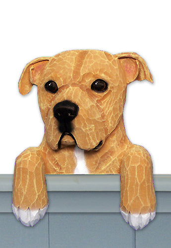 American Staffordshire Terrier Natural Dog Door Topper Black