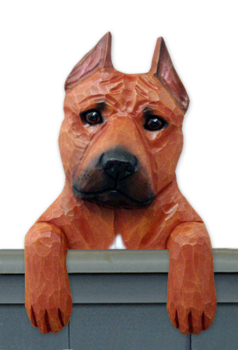 American Staffordshire Terrier Dog Door Topper Black