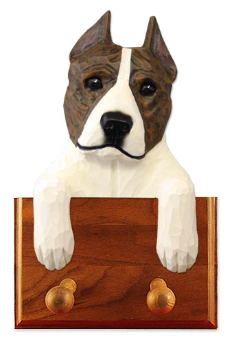 American Staffordshire Terrier Dog Leash Holder Black
