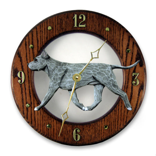 American Staffordshire terrier Dog Light Oak Hand Crafted Wall Clock Black