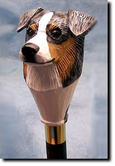 Australian Shepherd Dog Hand painted Walking Cane Stick