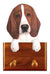 Basset Hound Dog Leash Holder Red And White