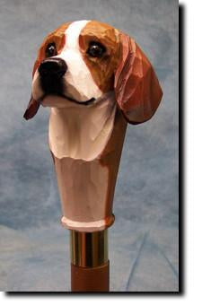 Beagle Dog Hand painted Walking Hiking Stick