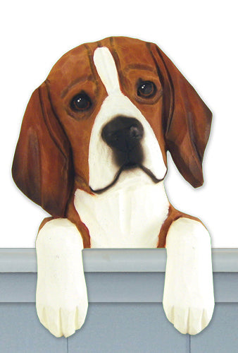 Beagle Dog Door Topper Red and White