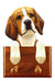 Beagle Dog Leash Holder Tri Color