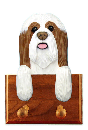 Bearded Collie Dog Leash Holder Blue And White