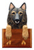 Belgian Tervuren Dog Leash Holder