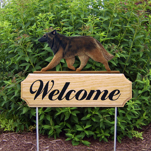 Belgian Tervuren Dog in Gait Yard Welcome Stake