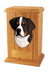 Bernese mountain Dog Light Oak Memorial Cremation Urn