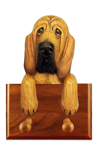 Bloodhound Dog Leash Holder Black And Tan