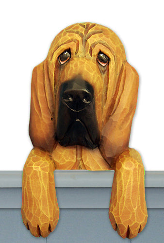 Bloodhound Dog Door Topper Black and Tan