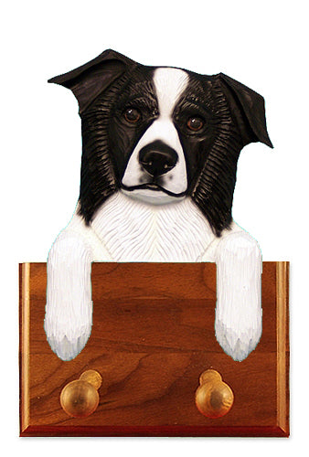 Border Collie Dog Leash Holder Black