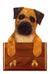 Border Terrier Dog Leash Holder Red