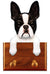 Boston Terrier Dog Leash Holder Black