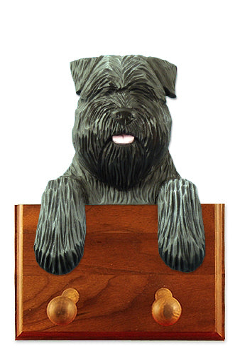 Bouvier des Flandres Natural Dog Leash Holder Black