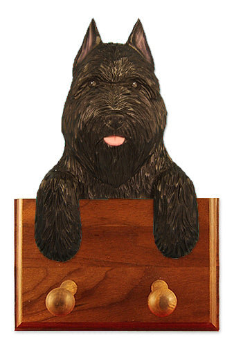 Bouvier des Flandres Dog Leash Holder Black