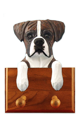 Boxer Natural Dog Leash Holder Fawn