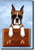 Boxer Dog Leash Holder Fawn