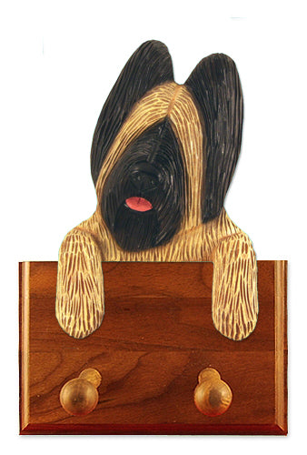 Briard Dog Leash Holder Black