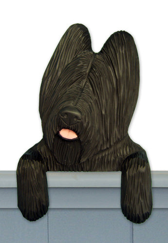 Briard Dog Door Topper Brindle