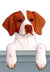 Brittany Dog Door Topper Liver
