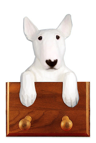 Bull Terrier Dog Leash Holder Brindle