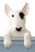 Bull Terrier Dog Door Topper Brindle