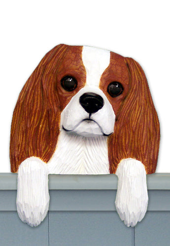 Cavalier King Charles Spaniel Dog Door Topper Black and Tan