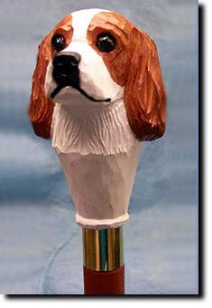 Cavalier King Charles Spaniel Dog Hand painted Walking Cane Stick