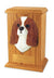 Cavalier king charles spaniel Dog Light Oak Memorial Cremation Urn Black and Tan