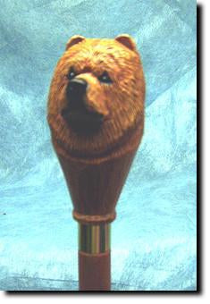 Chow Chow Dog Hand painted Hiking Staff