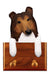 Collie Dog Leash Holder Sable