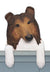Collie Dog Door Topper Bi Black
