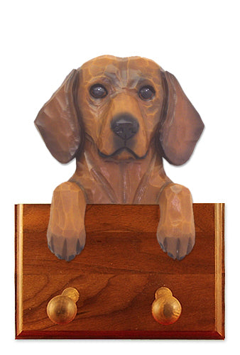 Dachshund Smooth Dog Leash Holder Black And Tan