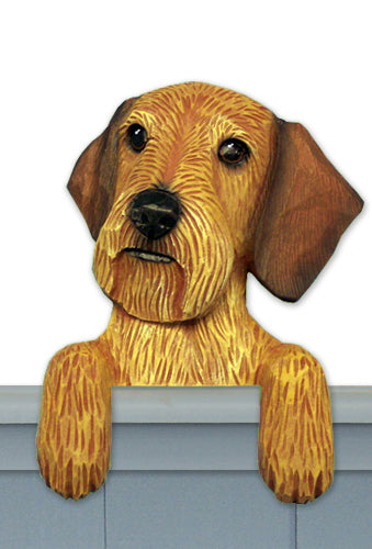 Dachshund Wired Hair Dog Door Topper Black and Tan