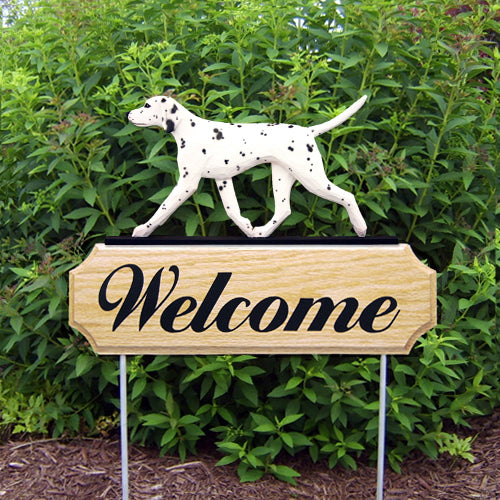 Dalmatian Dog in Gait Yard Welcome Stake Black