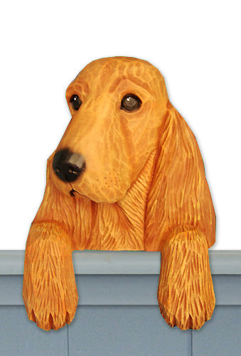 English Cocker Spaniel Dog Door Topper Golden